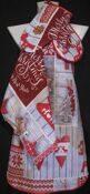 """Кухонный набор """"Счастливого Рождества"""" 4 пр. рогожка хлопок 100%"""